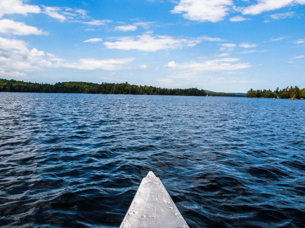 Kanada mit Kindern Kanu fahren