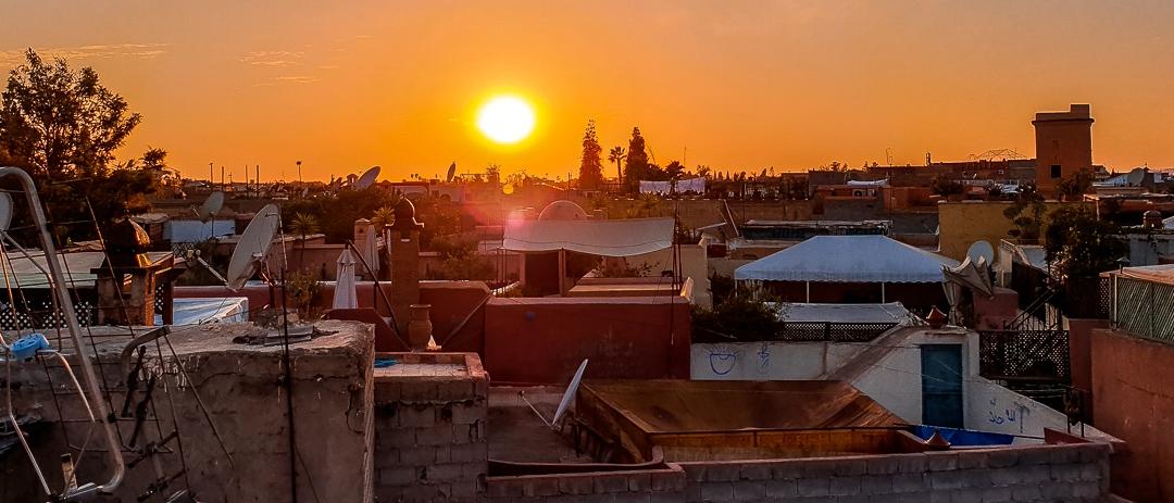 Sonnenuntergang - Marrakesch mit Kindern
