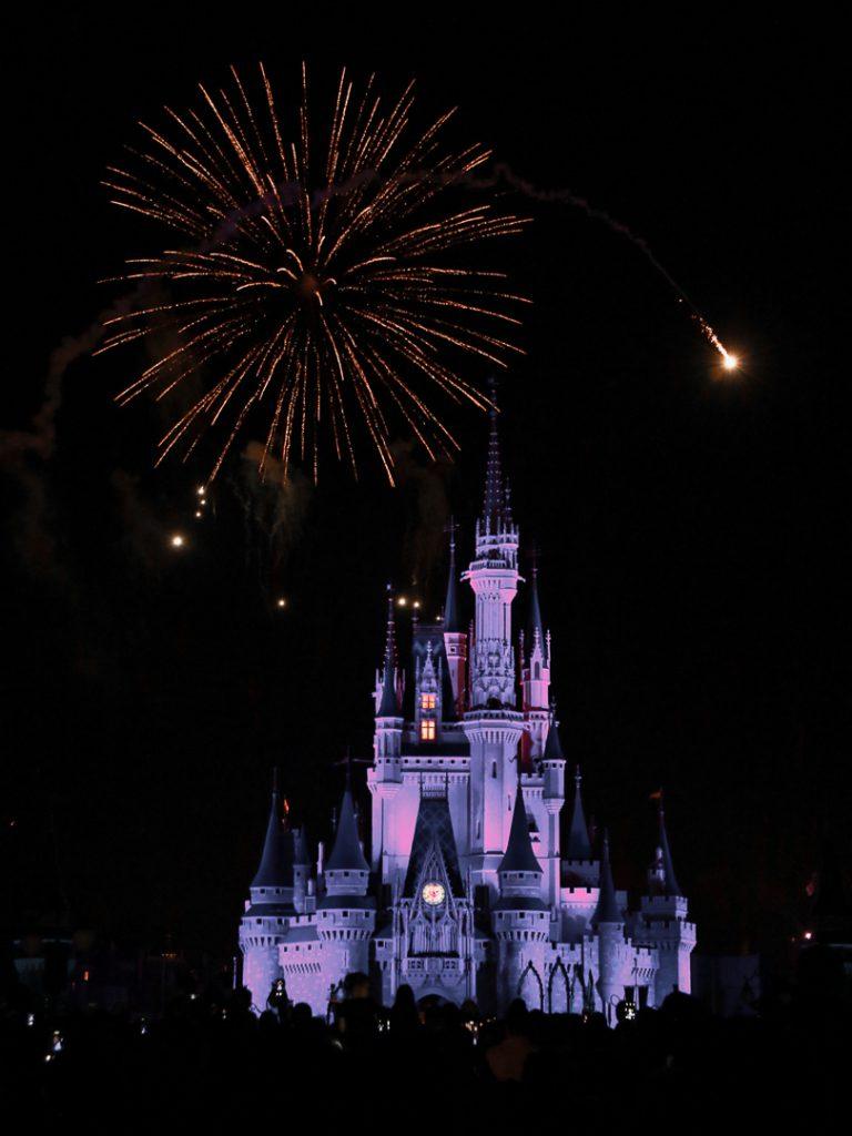 Florida Rundreise mit Kindern - Disney World Feuerwerk