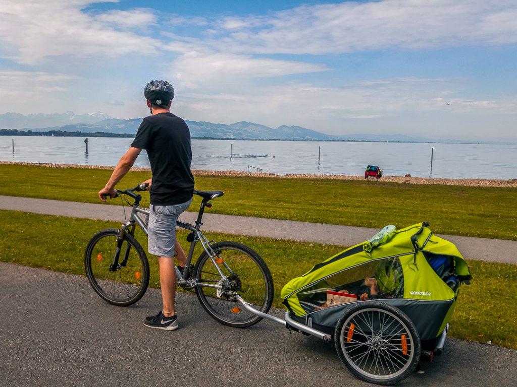 Mit dem Fahrrad am Bodensee