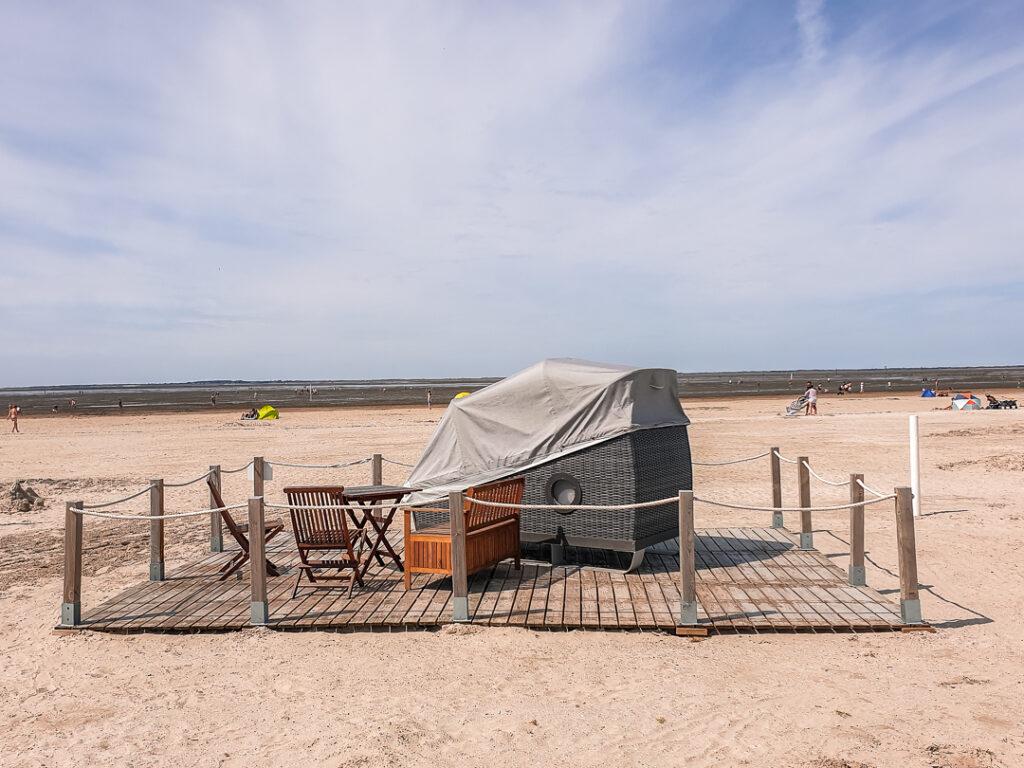 Eine besondere Unterkunft am Strand