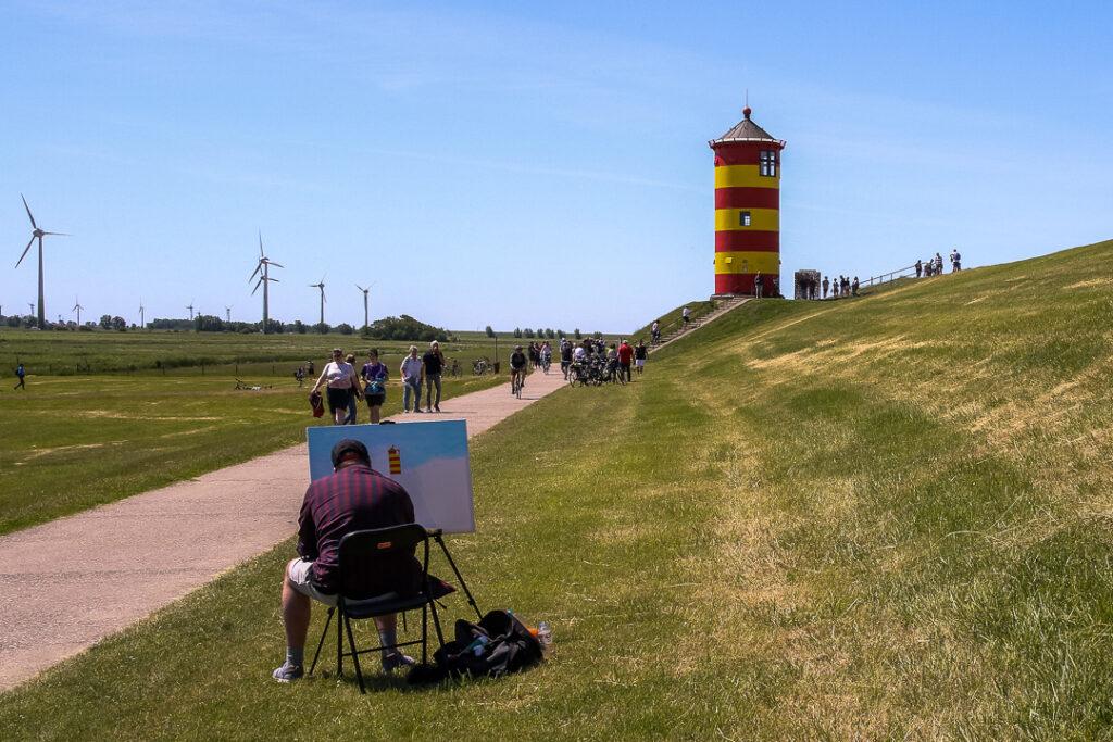 Familienausflug zum Leuchtturm